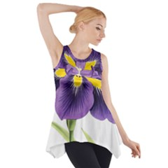 Lily Flower Plant Blossom Bloom Side Drop Tank Tunic