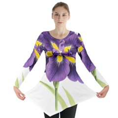 Lily Flower Plant Blossom Bloom Long Sleeve Tunic