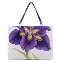 Lily Flower Plant Blossom Bloom Medium Zipper Tote Bag by Nexatart