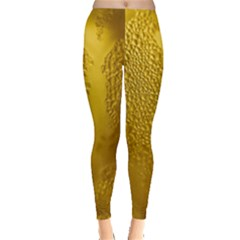 Beer Beverage Glass Yellow Cup Leggings  by Nexatart