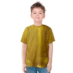 Beer Beverage Glass Yellow Cup Kids  Cotton Tee