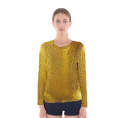 Beer Beverage Glass Yellow Cup Women s Long Sleeve Tee