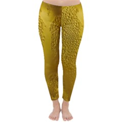 Beer Beverage Glass Yellow Cup Classic Winter Leggings by Nexatart