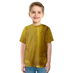 Beer Beverage Glass Yellow Cup Kids  Sport Mesh Tee
