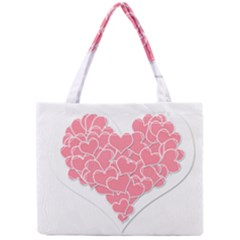 Heart Stripes Symbol Striped Mini Tote Bag by Nexatart
