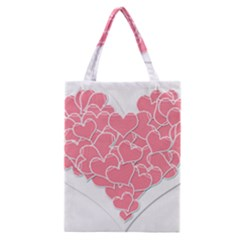 Heart Stripes Symbol Striped Classic Tote Bag