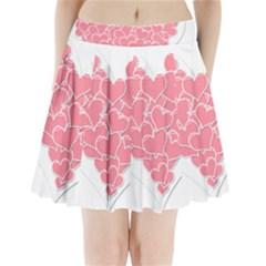 Heart Stripes Symbol Striped Pleated Mini Skirt by Nexatart
