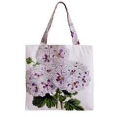Flower Plant Blossom Bloom Vintage Zipper Grocery Tote Bag by Nexatart