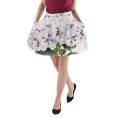 Flower Plant Blossom Bloom Vintage A Line Pocket Skirt by Nexatart