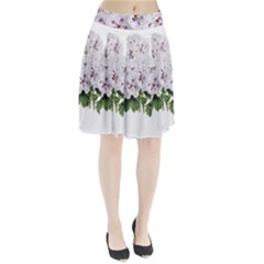 Flower Plant Blossom Bloom Vintage Pleated Skirt