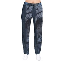 Graphic Design Background Drawstring Pants