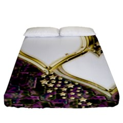 Lover Romantic Couple Apart Fitted Sheet (queen Size)