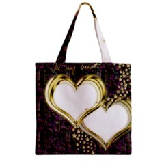 Lover Romantic Couple Apart Zipper Grocery Tote Bag by Nexatart
