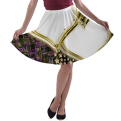 Lover Romantic Couple Apart A Line Skater Skirt