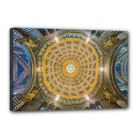Arches Architecture Cathedral Canvas 18  X 12  by Nexatart