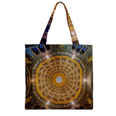 Arches Architecture Cathedral Zipper Grocery Tote Bag by Nexatart