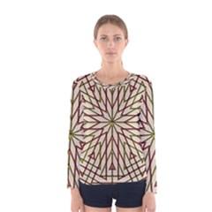 Kaleidoscope Online Triangle Women s Long Sleeve Tee