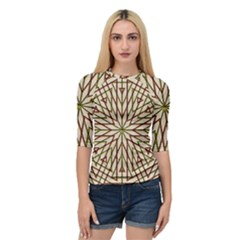 Kaleidoscope Online Triangle Quarter Sleeve Tee