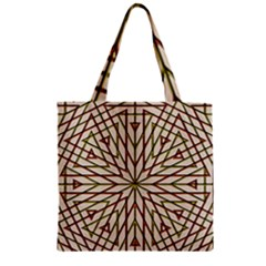 Kaleidoscope Online Triangle Zipper Grocery Tote Bag by Nexatart