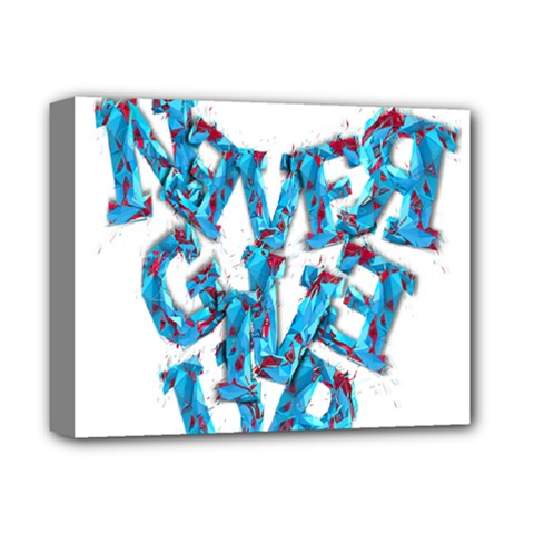 Sport Crossfit Fitness Gym Never Give Up Deluxe Canvas 14  X 11  by Nexatart
