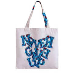 Sport Crossfit Fitness Gym Never Give Up Grocery Tote Bag by Nexatart