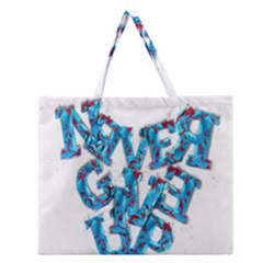 Sport Crossfit Fitness Gym Never Give Up Zipper Large Tote Bag by Nexatart