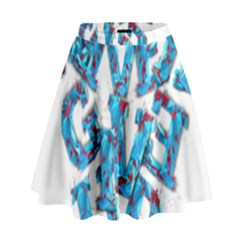 Sport Crossfit Fitness Gym Never Give Up High Waist Skirt by Nexatart