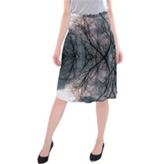 Storm Nature Clouds Landscape Tree Midi Beach Skirt