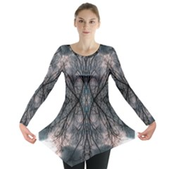 Storm Nature Clouds Landscape Tree Long Sleeve Tunic