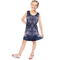Storm Nature Clouds Landscape Tree Kids  Tunic Dress