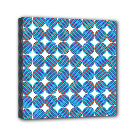 Geometric Dots Pattern Rainbow Mini Canvas 6  X 6  by Nexatart