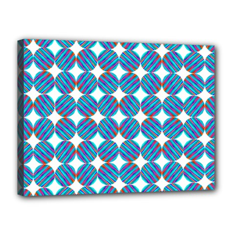Geometric Dots Pattern Rainbow Canvas 16  X 12  by Nexatart