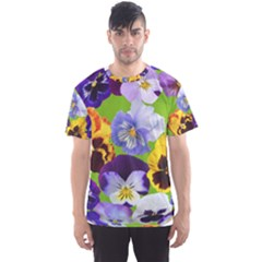Spring Pansy Blossom Bloom Plant Men s Sport Mesh Tee by Nexatart