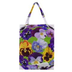 Spring Pansy Blossom Bloom Plant Classic Tote Bag by Nexatart