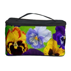 Spring Pansy Blossom Bloom Plant Cosmetic Storage Case by Nexatart