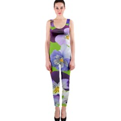 Spring Pansy Blossom Bloom Plant Onepiece Catsuit by Nexatart