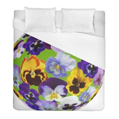 Spring Pansy Blossom Bloom Plant Duvet Cover (full/ Double Size) by Nexatart