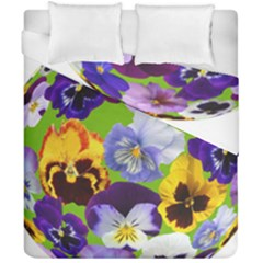 Spring Pansy Blossom Bloom Plant Duvet Cover Double Side (california King Size)