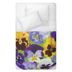 Spring Pansy Blossom Bloom Plant Duvet Cover (single Size)