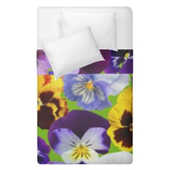 Spring Pansy Blossom Bloom Plant Duvet Cover Double Side (single Size) by Nexatart