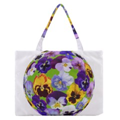 Spring Pansy Blossom Bloom Plant Medium Zipper Tote Bag