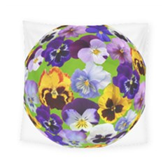 Spring Pansy Blossom Bloom Plant Square Tapestry (small) by Nexatart