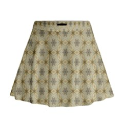 Star Basket Pattern Basket Pattern Mini Flare Skirt