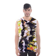 Canvas Acrylic Digital Design Men s Basketball Tank Top