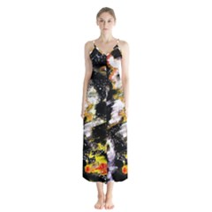 Canvas Acrylic Digital Design Chiffon Maxi Dress