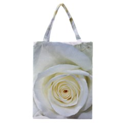Flower White Rose Lying Classic Tote Bag by Nexatart