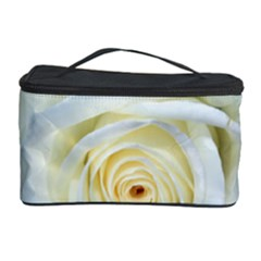 Flower White Rose Lying Cosmetic Storage Case by Nexatart