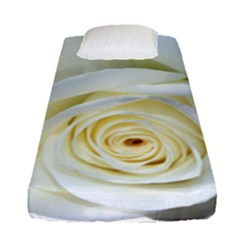 Flower White Rose Lying Fitted Sheet (single Size)