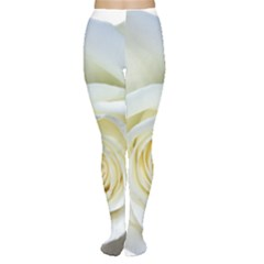Flower White Rose Lying Women s Tights
