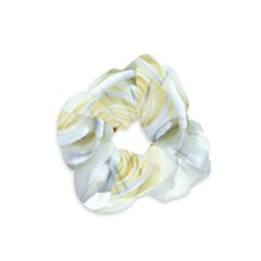 Flower White Rose Lying Velvet Scrunchie